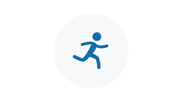 Run Away Blue Icon