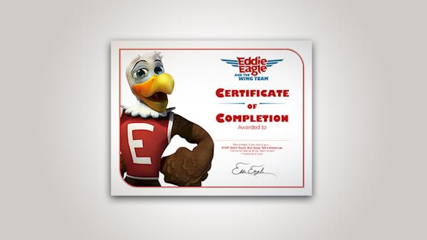 Eddie Eagle Certificate of Completion