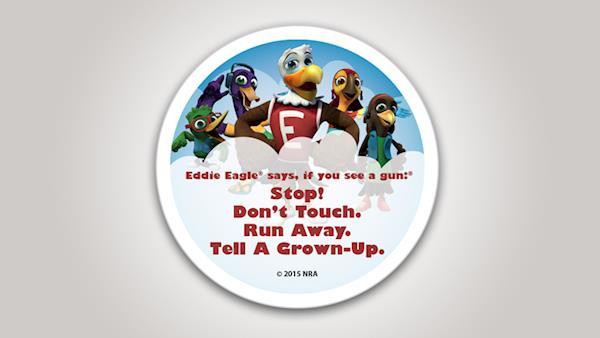 Eddie Eagle Student Reward Stickers