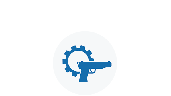Blue Icon of Gunsmithing