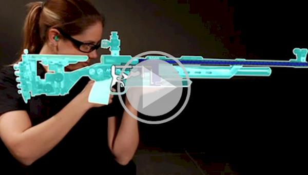 Female Air Rifle Competitor