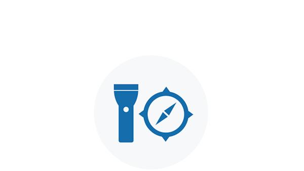 Blue Icon of Essential Gear