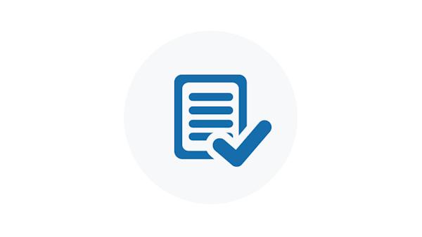 Blue Checklist Icon