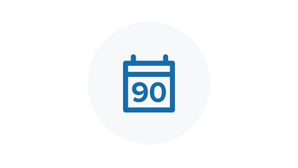 90 Day Calendar Icon