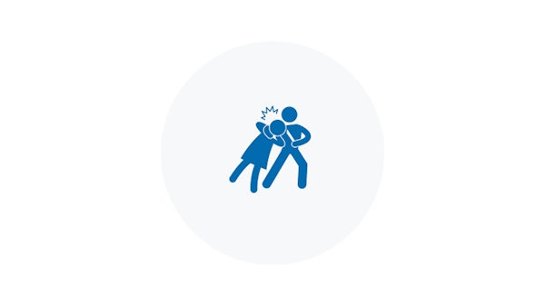Blue Violent Crime Icon