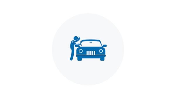 Blue Vehicle Theft Icon