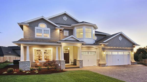 Beautiful Suburban Home at Twilight