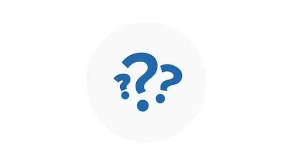 Blue Icon of Question Marks