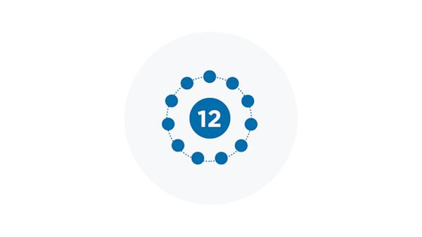 Blue Icon of 12 Stages