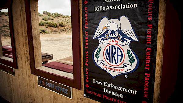 NRA Law Enforcement Division Sign at a Range