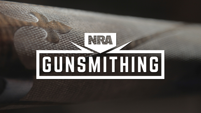 NRA Gunsmithing Logo on a Dark Background
