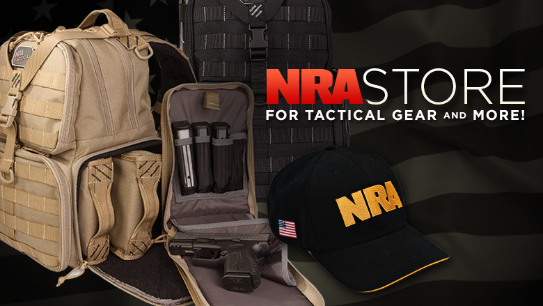 NRA Store Merchandise with Range Bag and NRA Hat