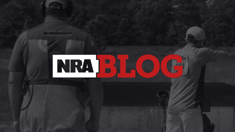 NRA Blog Logo on a Dark Background of a Shooting Competition