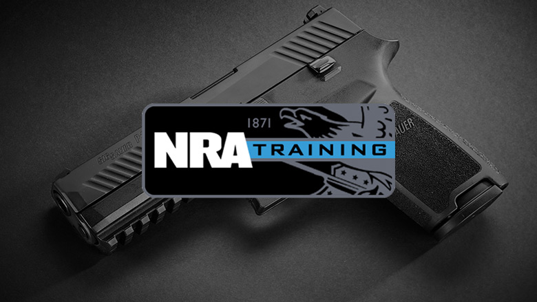 NRA Training Logo on a Dark Background