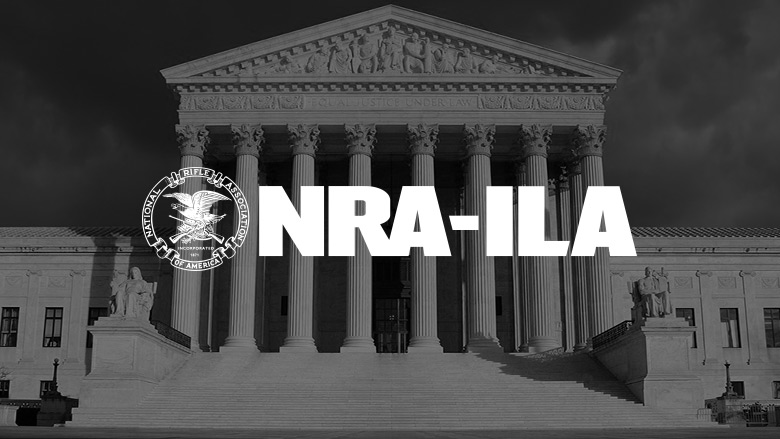 NRA Institute for Legislative Action Logo on a dark background.