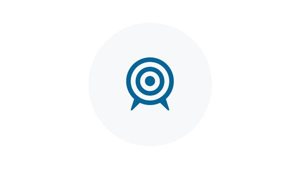 Blue Icon of a Target