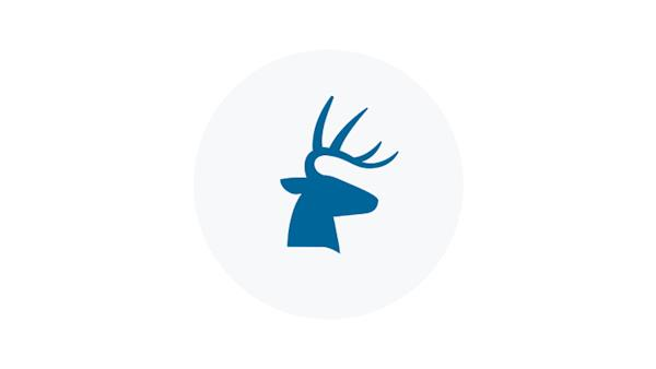 Blue Trophy Buck Icon