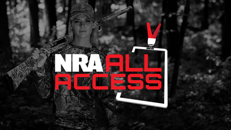 NRA All Access Logo on a Dark Background
