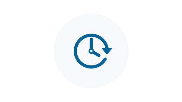 Blue 24/7 Clock Icon