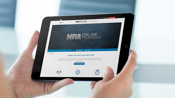 Person Looking at their Tablet with an NRA Web Site On It
