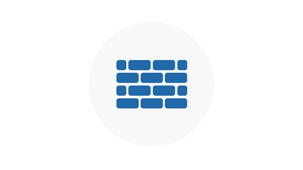 Blue Icon of a Brick Wall