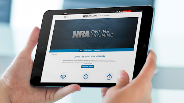 Someone Looking at their Tablet with an NRA Site