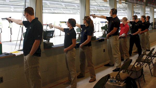 Youth Firearm Competitors at the Range