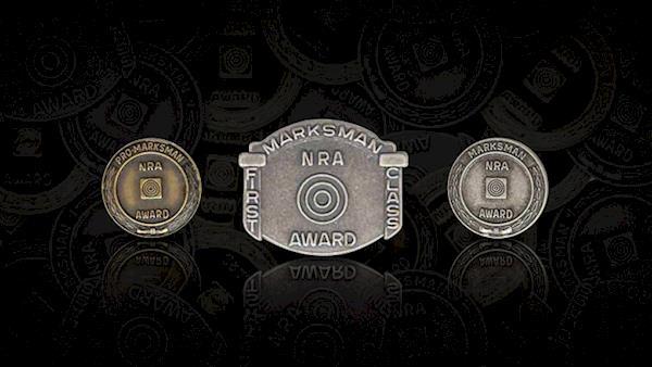 Three Different NRA Marksman Award Medals