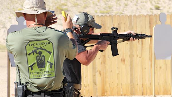 NRA Tactical Police Competitor on an Outdoor Range