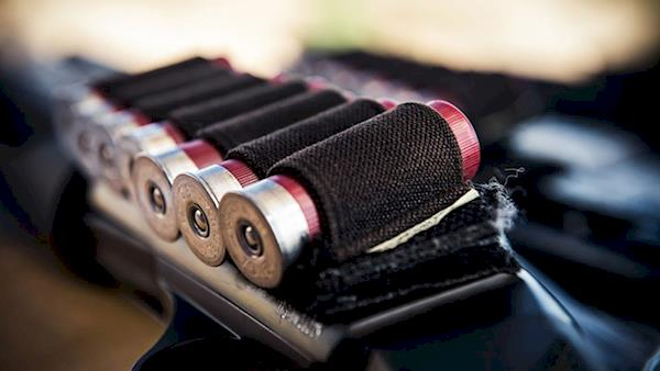 Elastic Buttstock Holder with Shotgun Shells