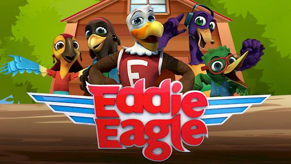 Eddie Eagle and the Wing Team In Their Treehouse