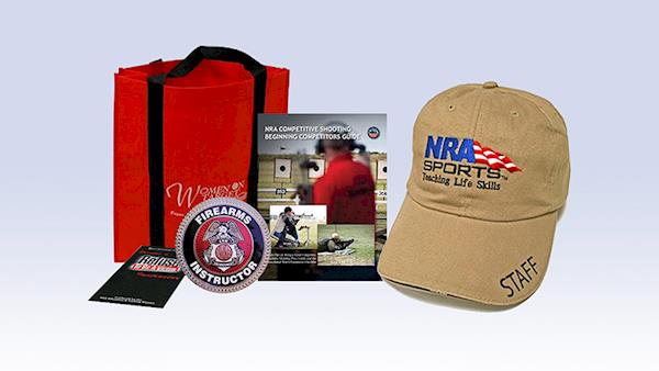 Group of NRA Instructor Training Materials and Baseball Cap