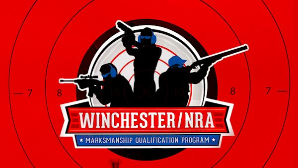 Winchester NRA Marksman Qualification Logo on a Red Target