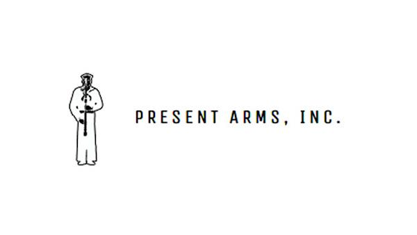 Present Arms, Inc. Logo on a White Background