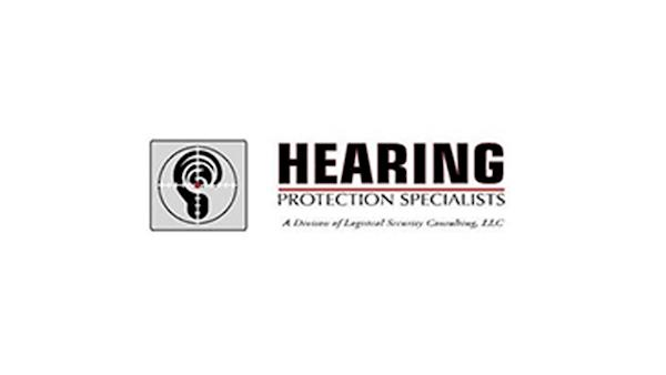 Hearing Protection Specialists Logo on a White Background