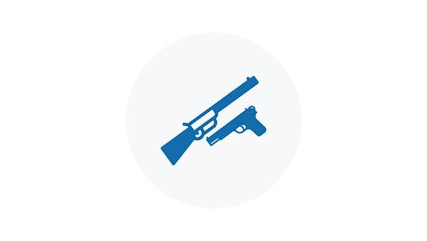 Blue Icon of Firearm Types
