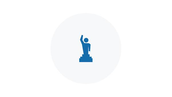 Blue Icon of an Award Winner