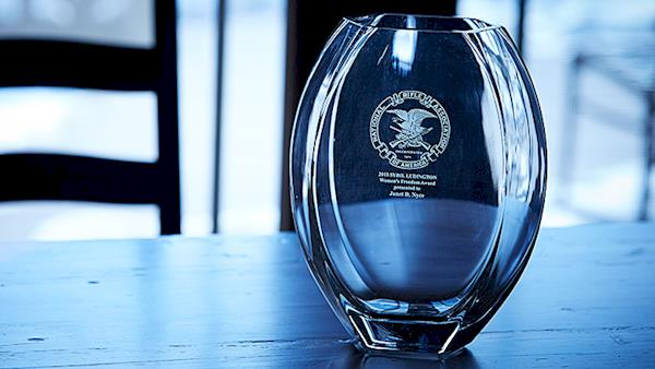 Etched Glass Award from the NRA