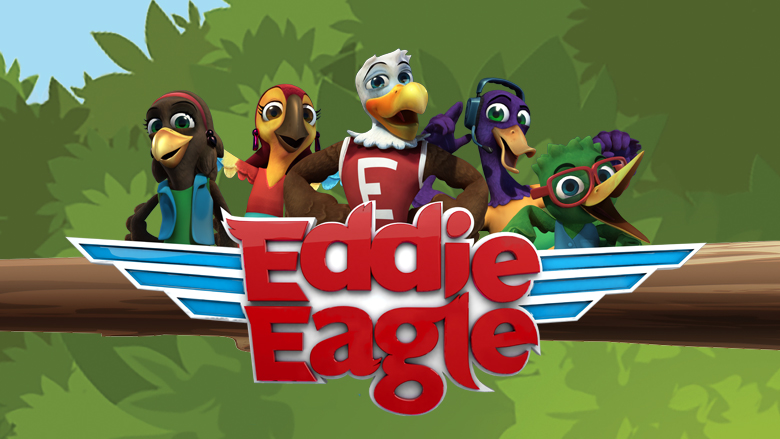 Eddie Eagle and the Wing Team sitting in a tree