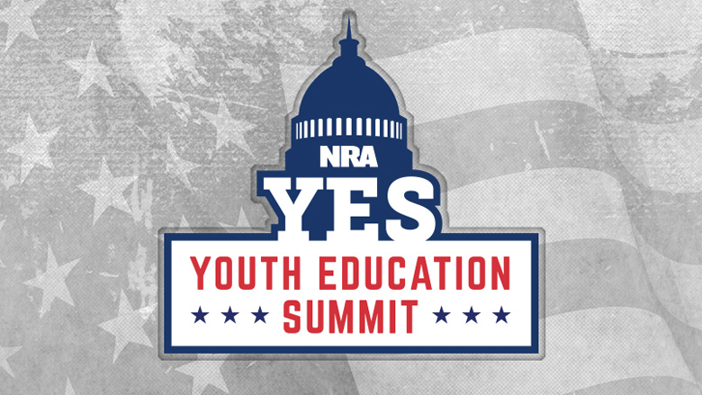 NRA YES Youth Education Summit Logo on a Grey Background