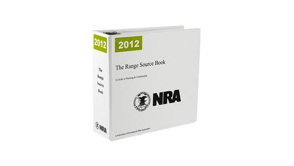 An NRA Range Source Book on a White Background