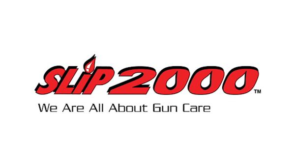 Slip 2000 We Are All About Gun Care Full Color Logo on a Transparent Background