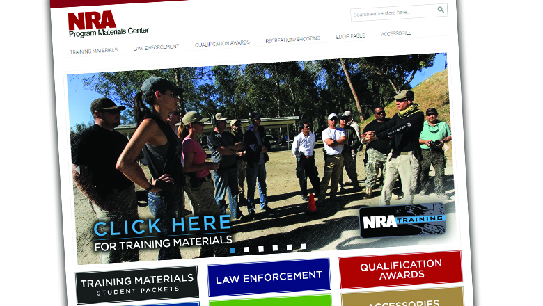 NRA Program Materials Web Site Screen Cap