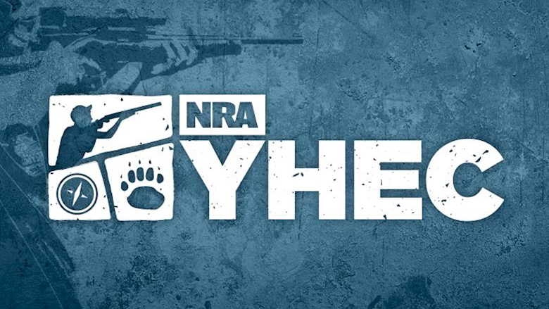 NRA Youth Hunter Education Challenge Logo on a blue background