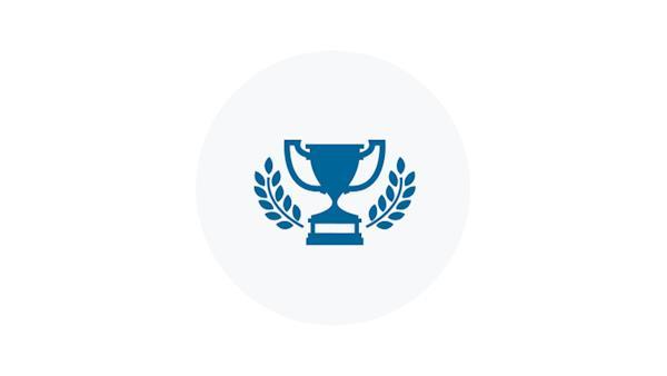 Winners Cup Trophy Blue Icon