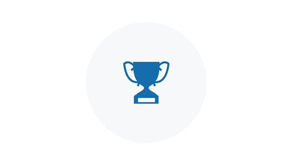 Blue Icon of a Trophy Award