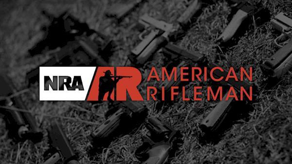 NRA American Rifleman Magazine Logo on a Dark Background