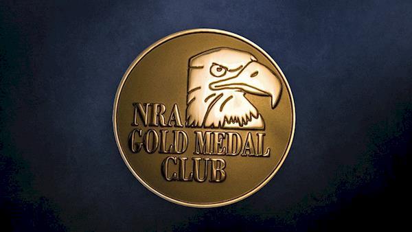 NRA Gold Medal Club Emblem on a Dark Background