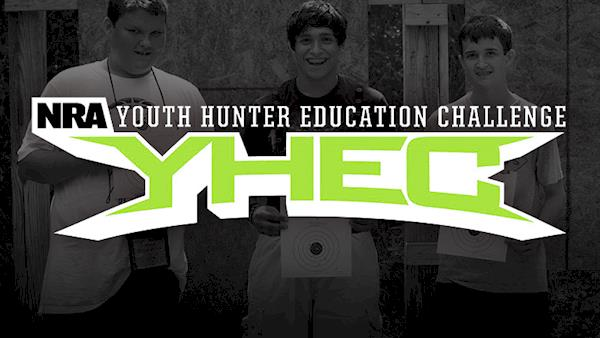 NRA Youth Hunter Education Challenge Logo on a dark background