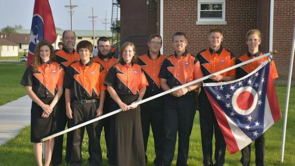 Youth Shooting Team proudly wearing their uniforms.
